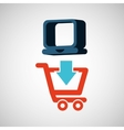 ecommerce with laptop technology icon vector image vector image