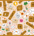 everything is packed and delivered on time vector image vector image