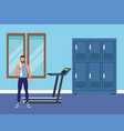 fitness people and gym vector image vector image
