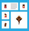 flat icon chocolate set of shaped box chocolate