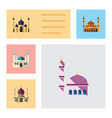 flat icon minaret set of mohammedanism mosque vector image vector image