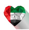 Flat style logo symbol of love Emirates vector image vector image