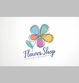 flower shop logo sign icon vector image vector image