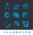 Geometric logo elements icon set vector image vector image