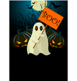 ghost with sign halloween invitation vector image vector image