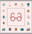 glasses symbol - search icon elements for your vector image vector image