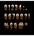 Gold Font Set 2 File contains graphic style vector image vector image