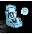 hand drawn baby seat for boy Baby in car Element vector image vector image