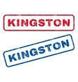 Kingston Rubber Stamps vector image vector image