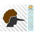 lier flat icon with bonus vector image vector image