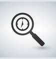 magnifying glass with clock icon icon vector image