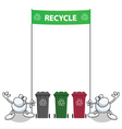 man banner recycle vector image vector image