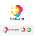medical color logo vector image vector image