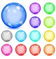 Multicolored opaque spheres vector image vector image