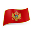national flag of montenegro red field bordered vector image vector image
