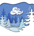 paper art christmas vector image