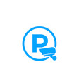 parking with video surveillance icon vector image vector image
