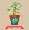 Passive income from money market fund vector image vector image