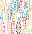 pattern autumn leaves vector image vector image