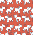 Pattern white cat vector image vector image