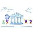 people invest deposit money in bank get percent vector image