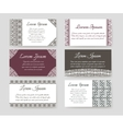 Personal cards with ethnic design vector image vector image