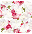 rose tulip seamless pattern vector image vector image