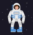 Sad astronaut in outer space Sorrowful pessimistic vector image vector image