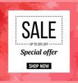 sale background sale banner template design vector image