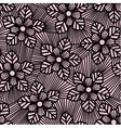 Seamless flower pattern made of straight lines vector image vector image