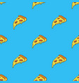 seamless pattern with pizza slice vector image