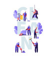 service professional cleaners work concept vector image