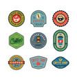 set of modern vintage coffee shop labels vector image vector image