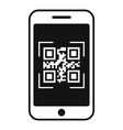 smartphone qr code icon simple style vector image vector image