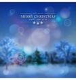 Snowy Forest Winter Background vector image vector image