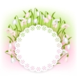 Spring flowers snowdrops natural background vector image