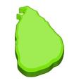 Sri lanka map icon cartoon style vector image vector image
