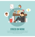 Stress on work flat icon vector image vector image