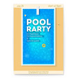 summer party in swimming pool poster with design vector image vector image