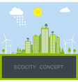 sustainable city concept vector image