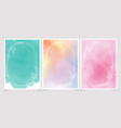 sweet watercolor background with white leaf vector image vector image