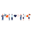 teamwork business characters man woman holding vector image vector image