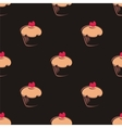 Tile cupcake pattern or background vector image vector image