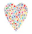 Travel Heart vector image vector image