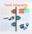 travel infographic template 3 positions vector image vector image