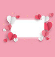valentine s day concept background 3d red and vector image vector image