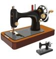 Vintage sewing machine isolated vector image vector image