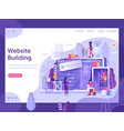 web site under construction page banner template vector image