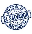 welcome to el salvador vector image vector image