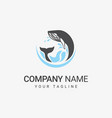 whale sea logo vector image